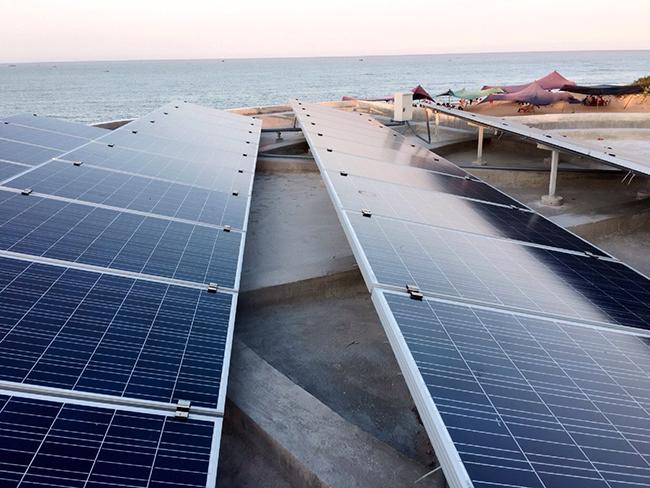 hệ thống năng lương mặt trời trên mái Phú Yên