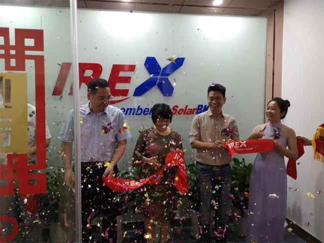 solar panel manufacturer irex has international representative office