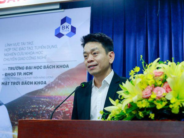 Ông Nguyễn Dương Tuấn - TGĐ SolarBK phát biểu