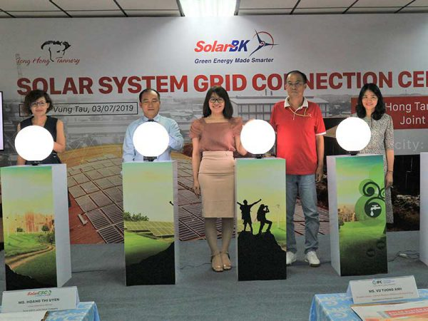 Lễ đóng điện Hệ thống điện mặt trời tại Nhà máy Tong Hong