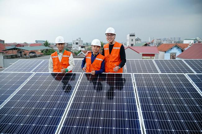 Hệ thống điện mặt trời BigK được lắp cho một hộ gia đình ở Hà Nội